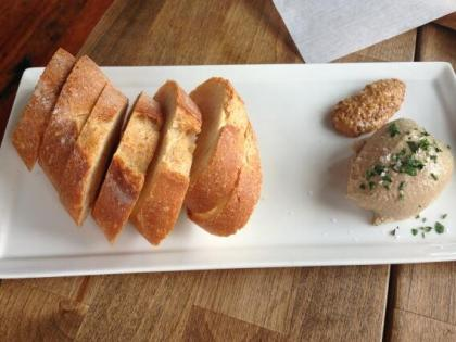 chicken liver mousse with inglehoffer stone ground mustard